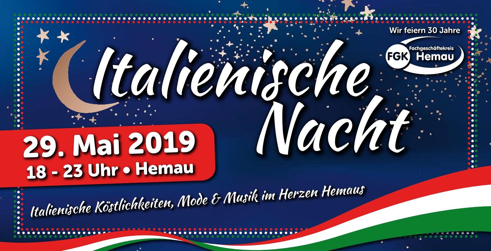 Italienische Nacht Am 29 Mai 2019 Fachgeschftekreis Hemau